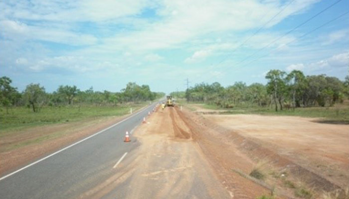 Arnhem Highway repairs by RMS civil contractors