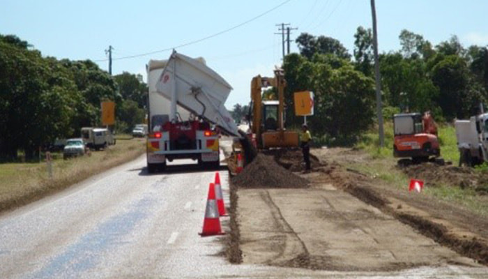 Flood damage pavement repairs by Townsville civil firm RMS