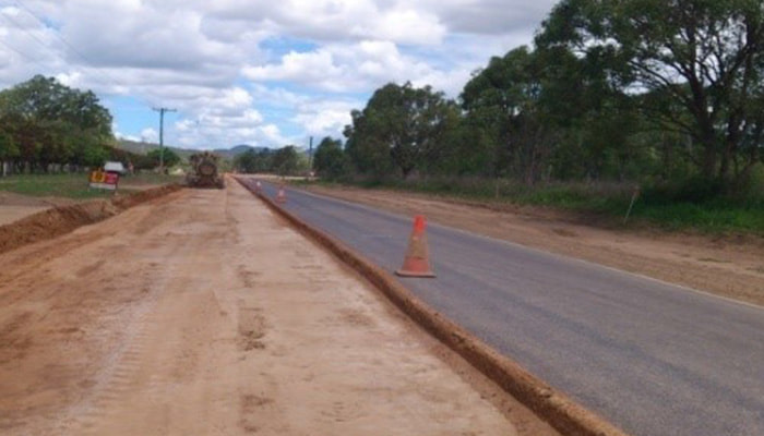 Road works near Mareeba by RMS